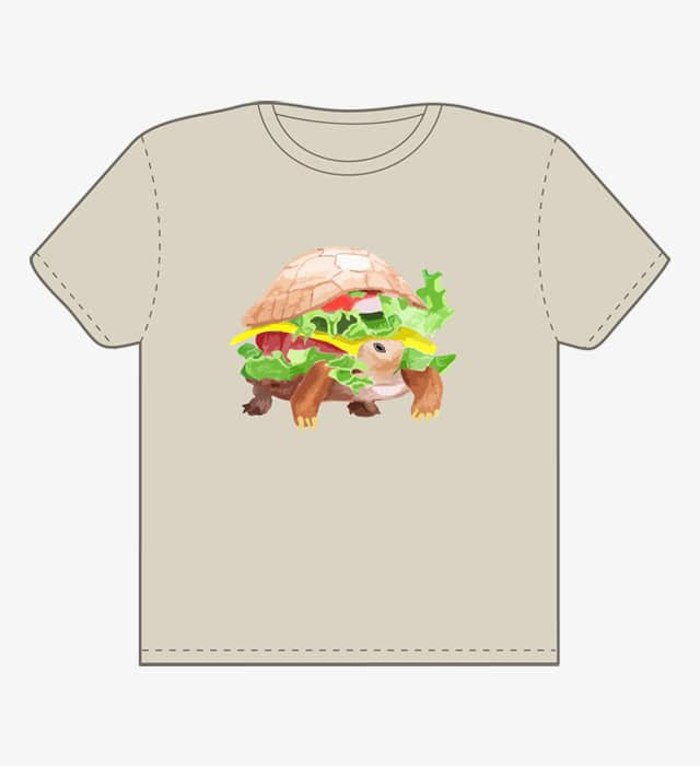 Hamburger Turtle by speakerine on Threadless