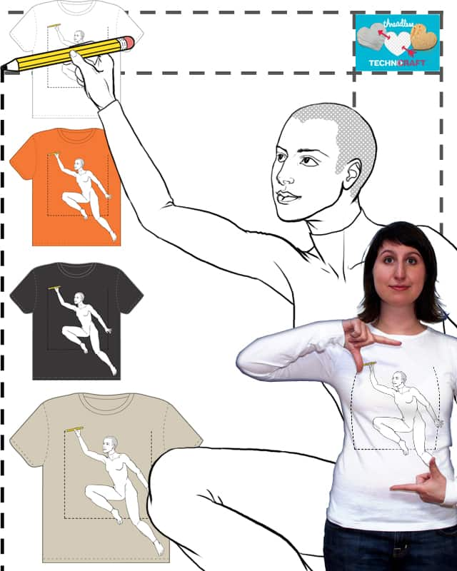 Draw me and I'll draw you! by ANCU on Threadless