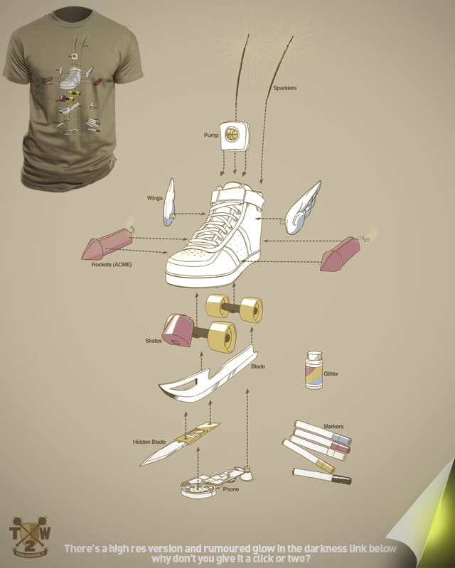 Just for kicks by fightstacy on Threadless