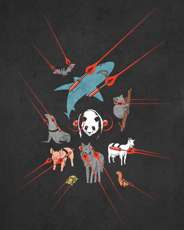 Animals with Frickin' Laserbeams! by jameses.x on Threadless