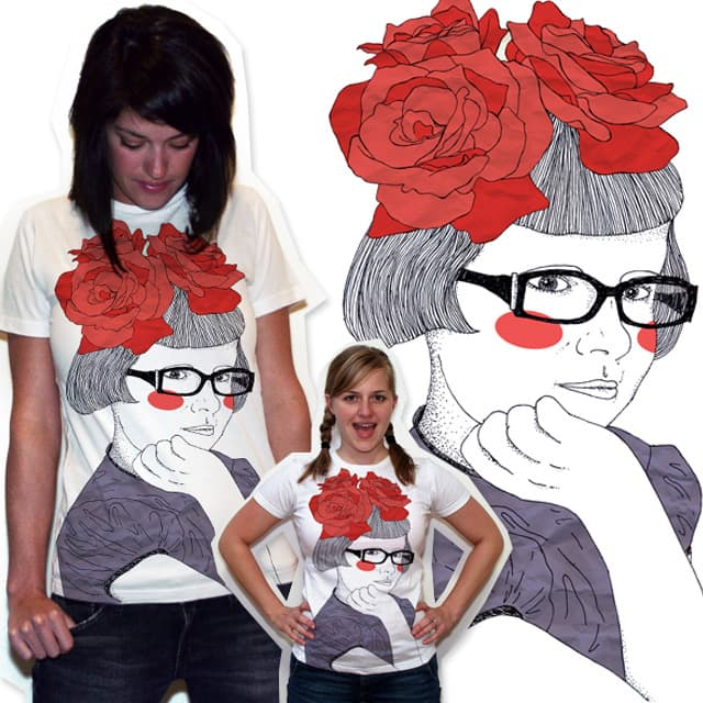 Girl with roses by LuciaL on Threadless