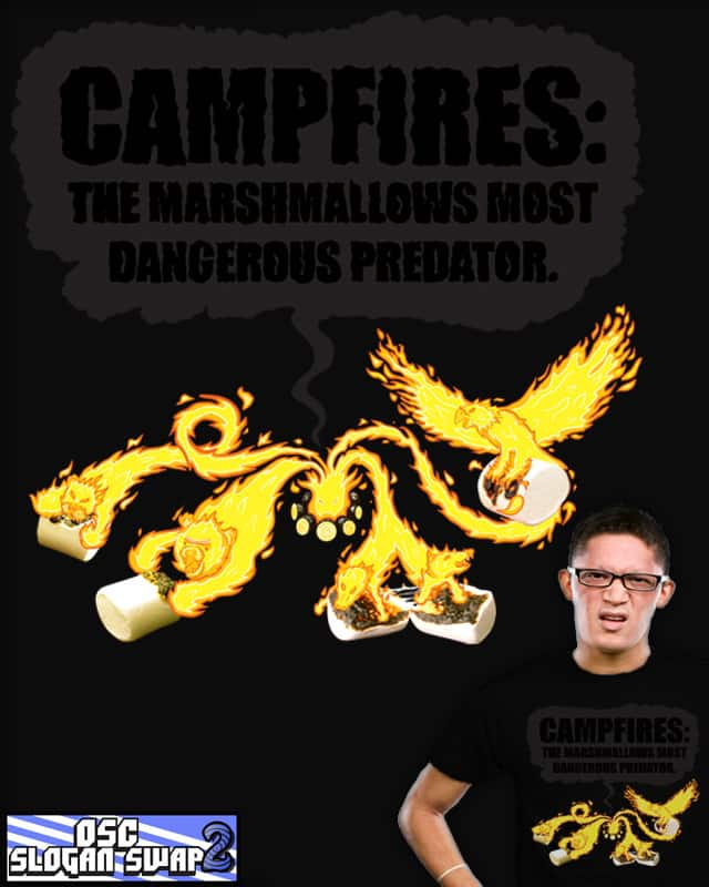 Campfires: The Marshmallows Most Dangerous Predato by dannodepf on Threadless