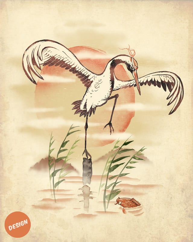 The Crane Technique by blue sparrow on Threadless