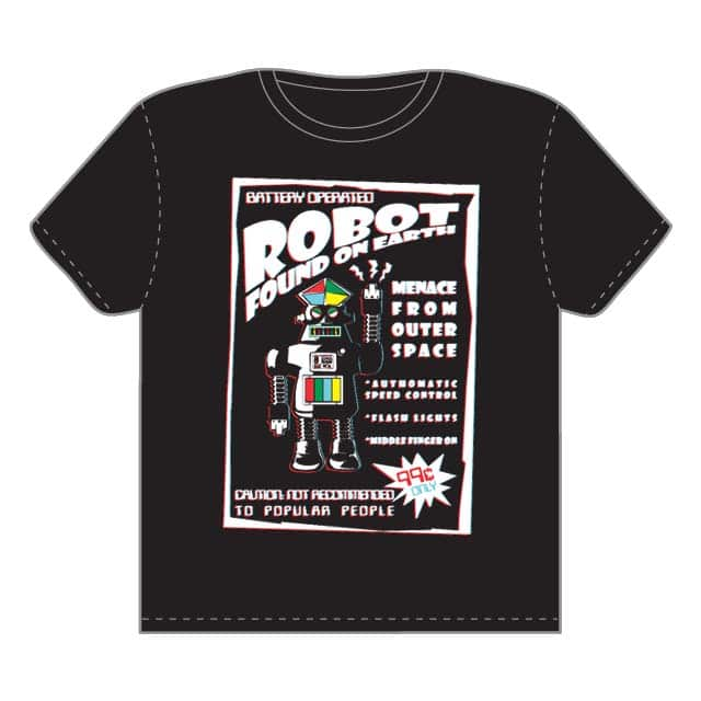 Robot found on earth by opippi on Threadless