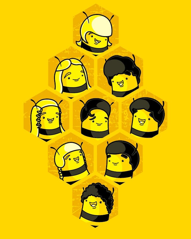 The Brady Bee Bunch by Recycledwax on Threadless
