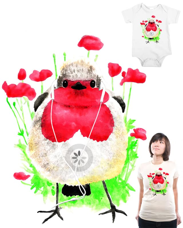 Downloading a Poppy Song by YaaH on Threadless