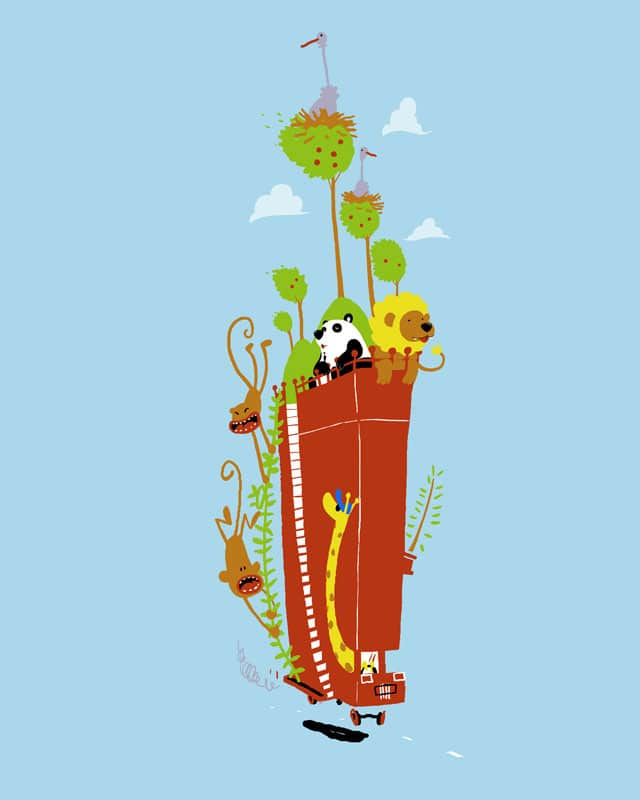 mr. giraffes fantastical eco bus by youloveicecream on Threadless