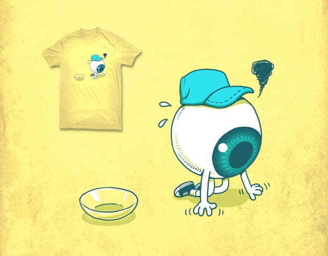 contact lens came off by ben chen on Threadless