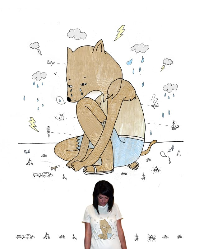 Crying Wolf by BotenBot on Threadless