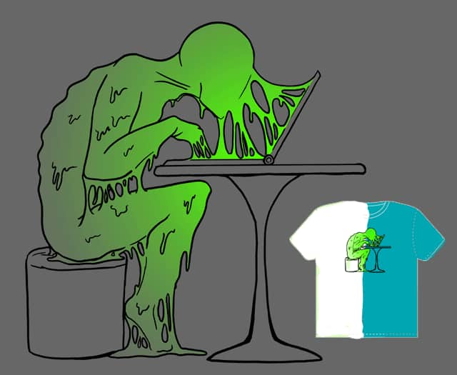 Glued to the screen by drwhofreak on Threadless