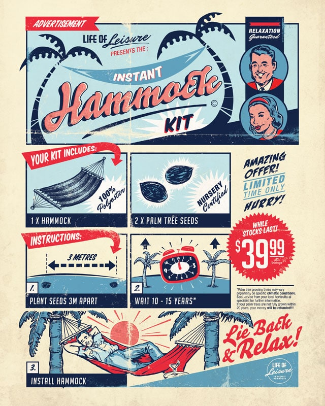 Instant Hammock Kit by blue sparrow on Threadless
