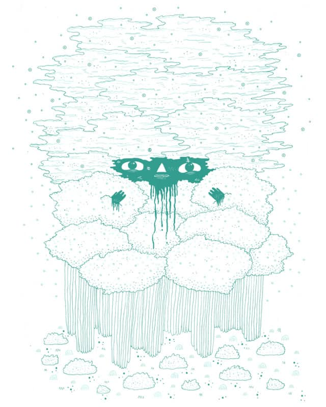 A head in the clouds by randyotter3000 on Threadless