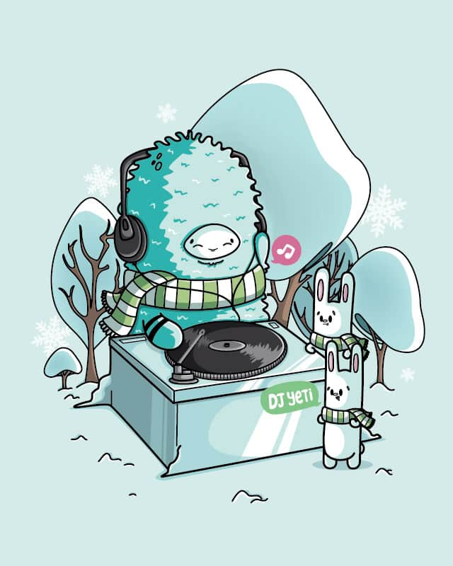 DJ Yeti by Recycledwax on Threadless