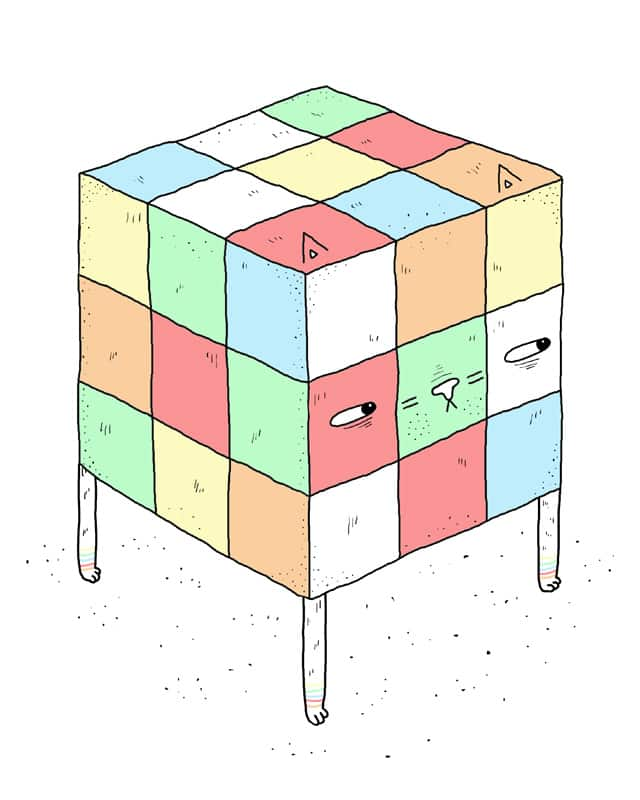 Rubix cat by randyotter3000 on Threadless