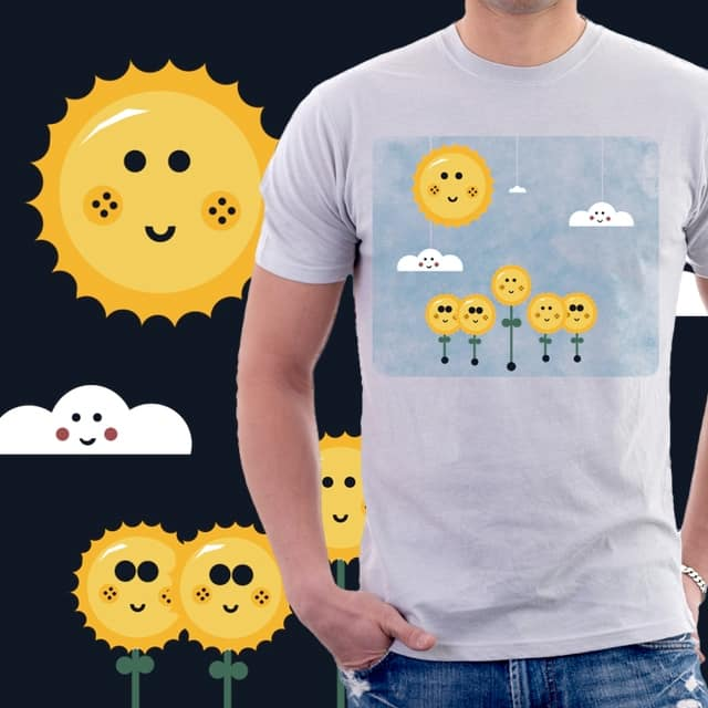 Sunflowers on a sunny day by pia.tra on Threadless