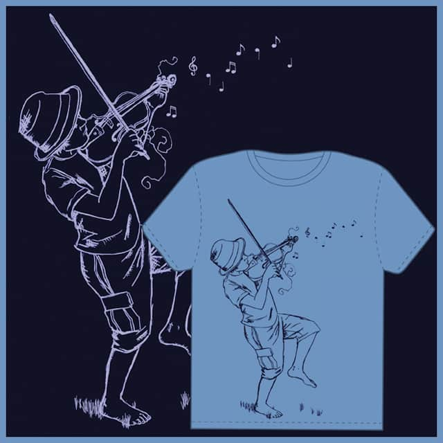 Play your fiddle hard! by artizmee on Threadless