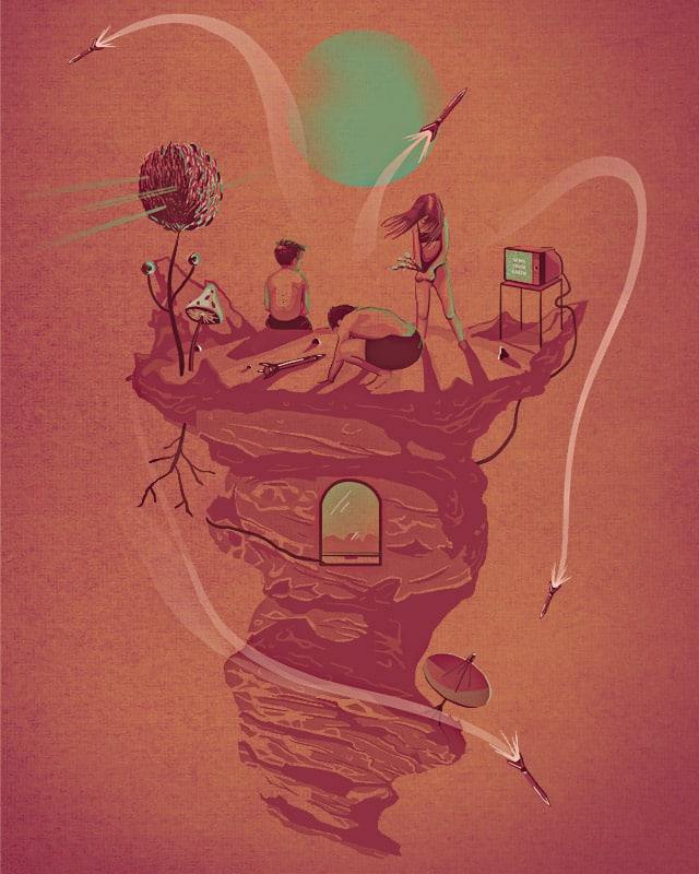 Sunday Afternoon on Red Planet by pop kid on Threadless