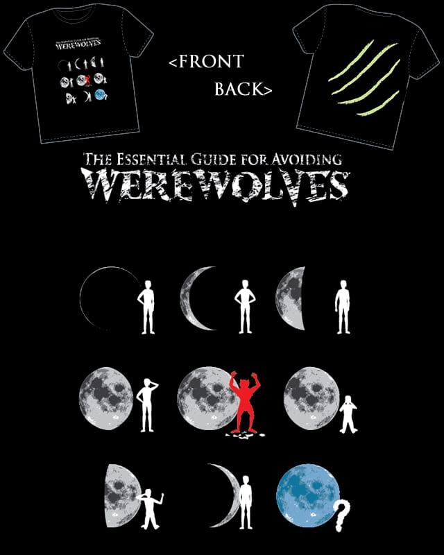 The Essential Guide For Avoiding Werewolves by Dingdogglewoo on Threadless