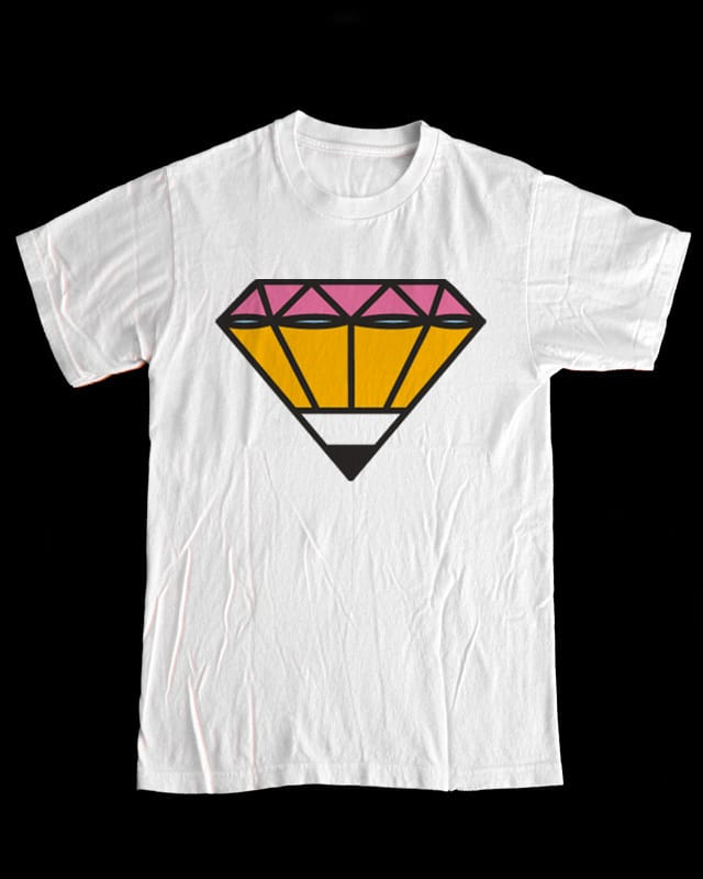Pencil/Diamond by SEVEN-HUNDRED on Threadless