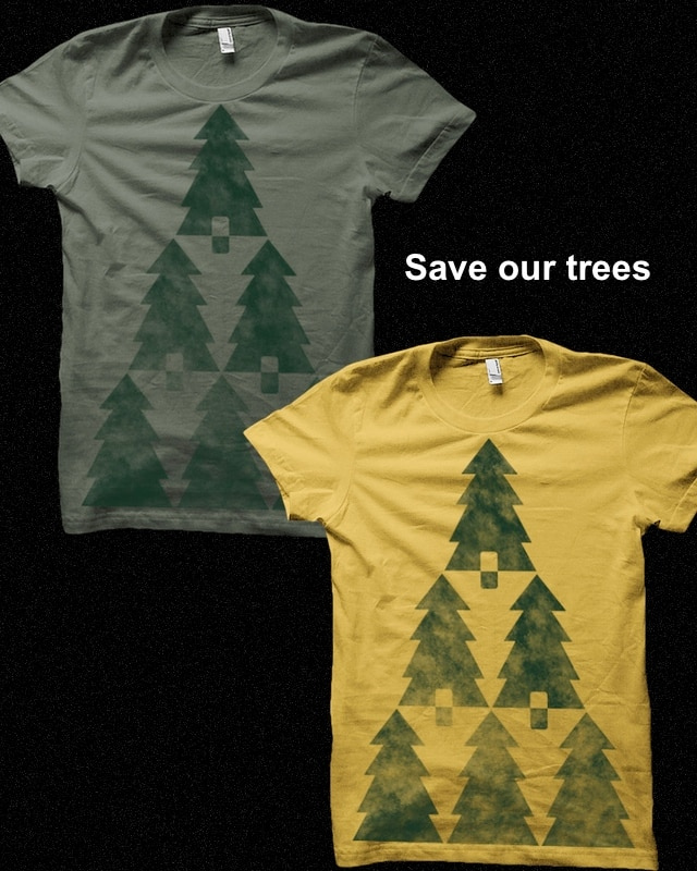 Save the trees by pia.tra on Threadless