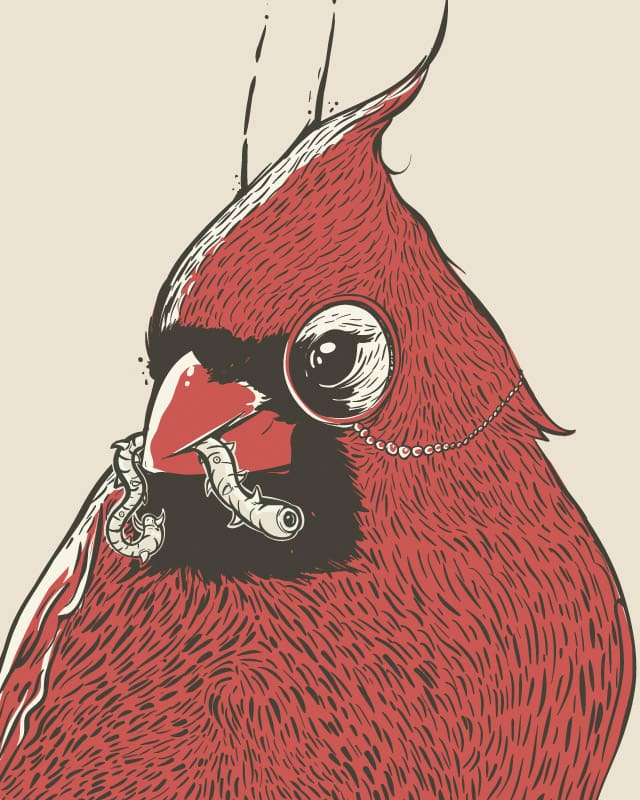 The Monocled Cardinal by robsonborges on Threadless