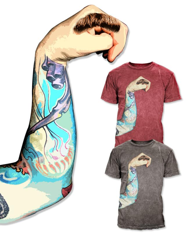 Handstache by opippi on Threadless