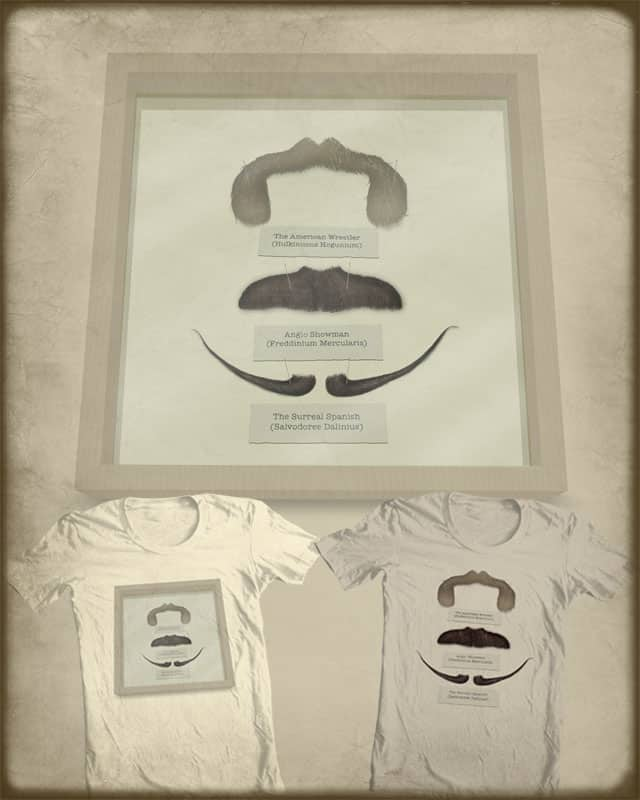 The Moustache Collector by quick-brown-fox on Threadless