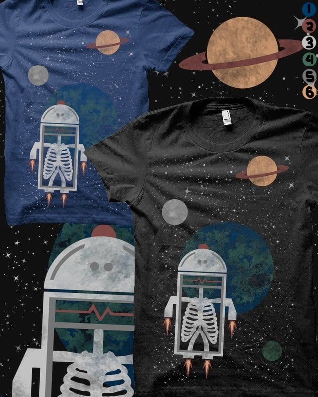 Roboy in space by pia.tra on Threadless