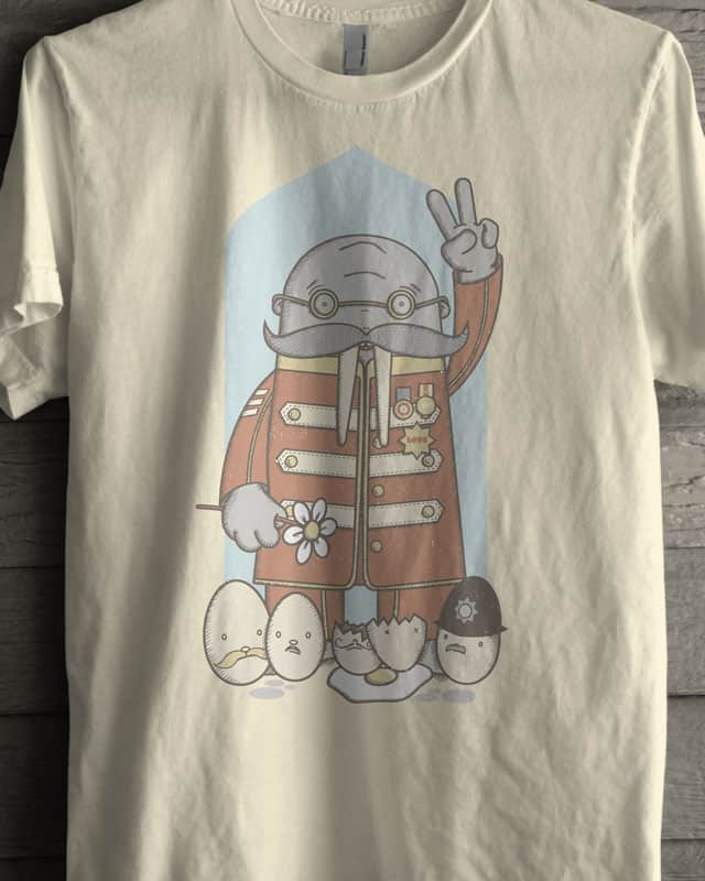 Sgt Walrus & His Hairy Egg Men Band by quick-brown-fox on Threadless