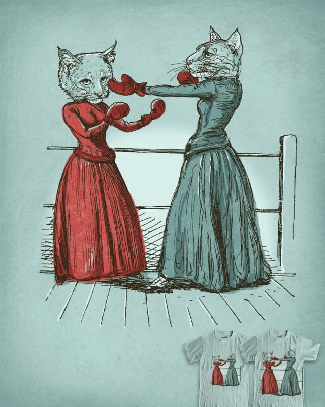 Cat Fight by Kittenplay on Threadless