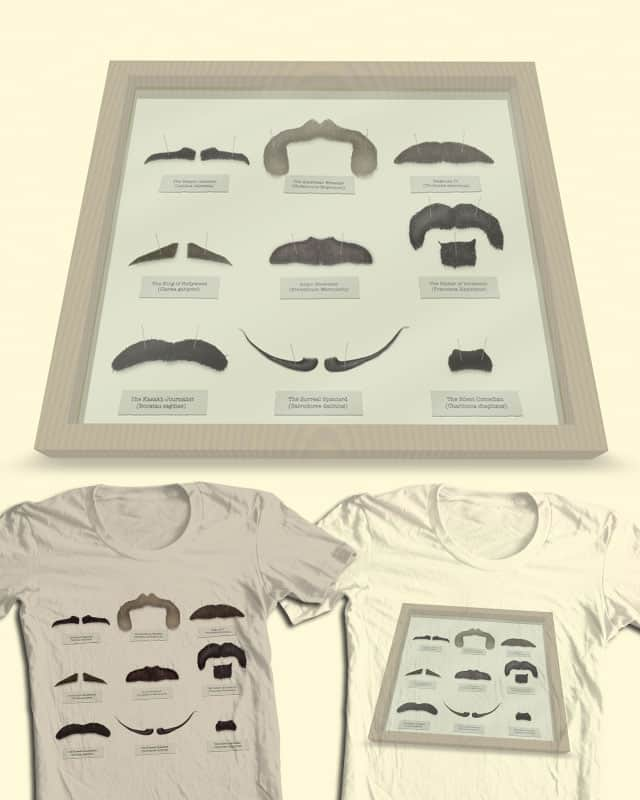 The Moustache Collector V2.0 by quick-brown-fox on Threadless