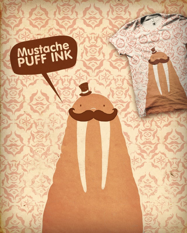 Walruses Mustaches and Wallpaper by the Sleeping Sky on Threadless
