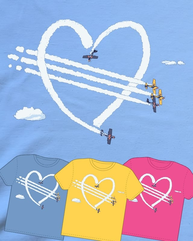 Love Is In The Air by puku on Threadless