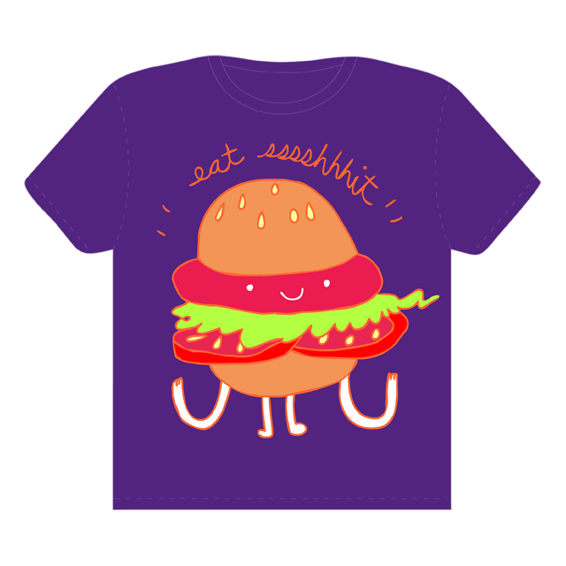 Hi Hamburger! by BuenoTheBear on Threadless