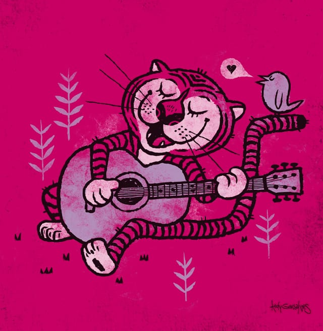 Tiger Song by andyg on Threadless