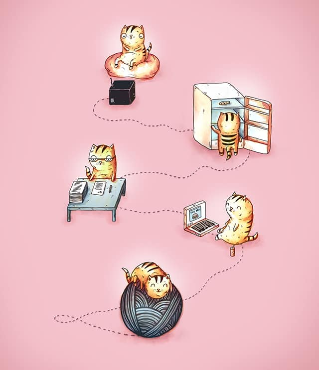 A Cat's Day Off by almozline on Threadless