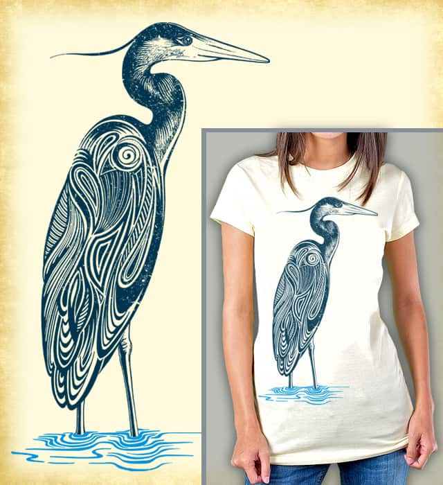 Blue Heron by ThirstyFly on Threadless