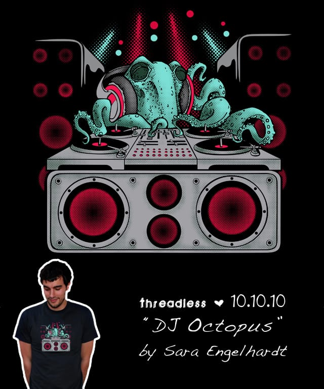 DJ Octopus by CupcakeStarship on Threadless