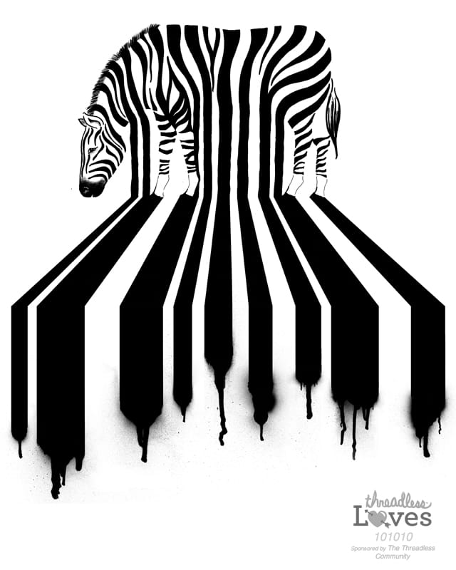 Zebra Xing by CazKing on Threadless