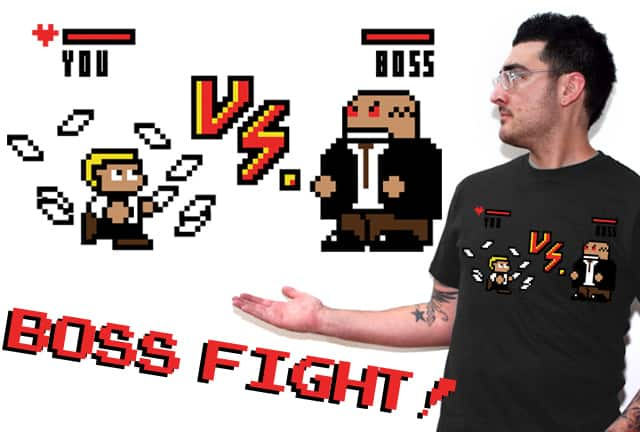 Boss Fight! by KayBot on Threadless