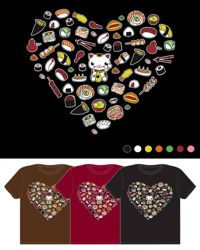 I heart Japanese food by SaMtRoNiKa on Threadless