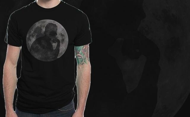 man on the moon! by pia.tra on Threadless