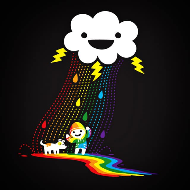 Joe and the Awesome Technicolor Raincoat by pilihp on Threadless