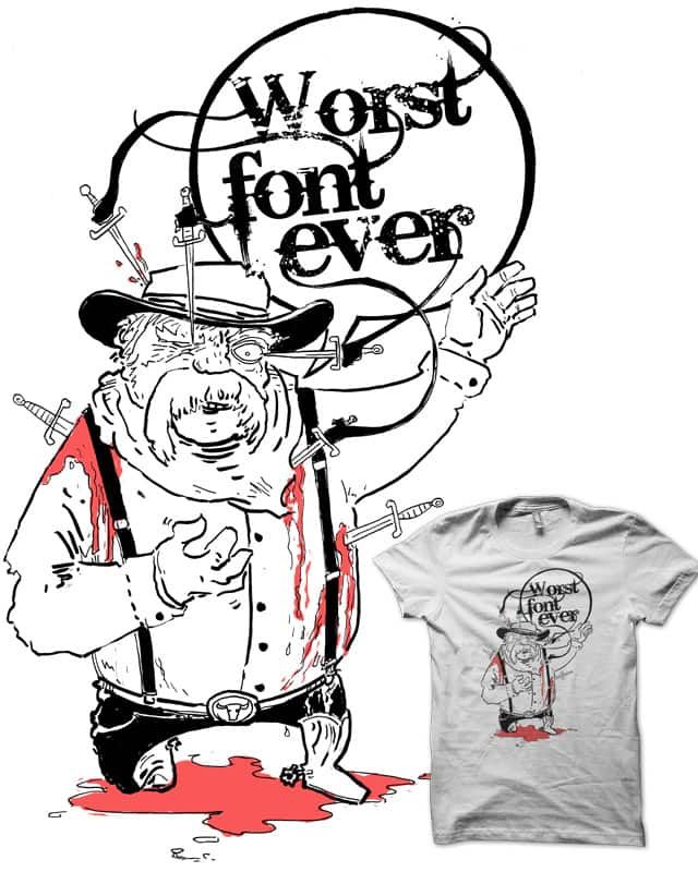 must end life in classic Lorne Greene pose from ba by ISABOA on Threadless