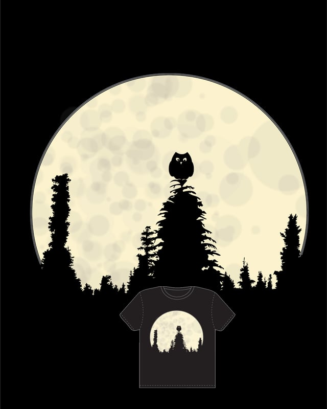 Slience of the Night by huddyyeo on Threadless