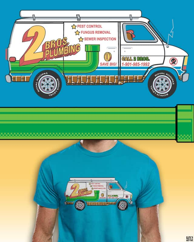 2 Bros. Plumbing Van by bortwein on Threadless