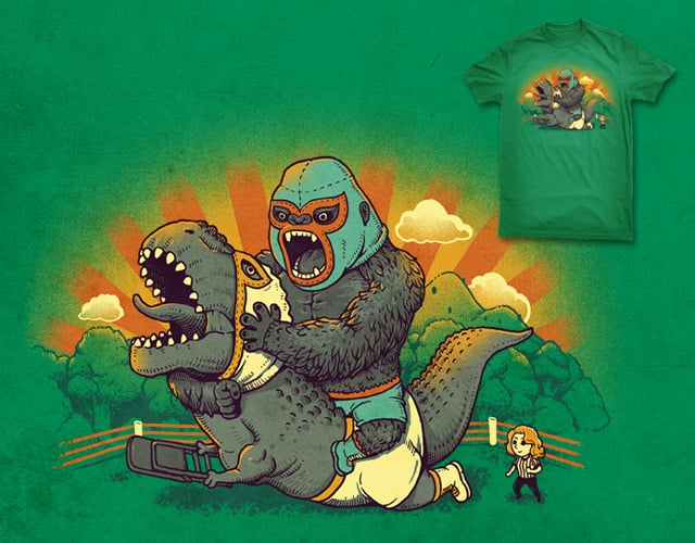 Wrestling Showdown by ben chen on Threadless