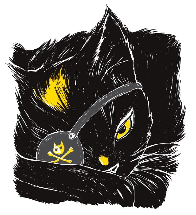 The Black Cat by yeohgh on Threadless