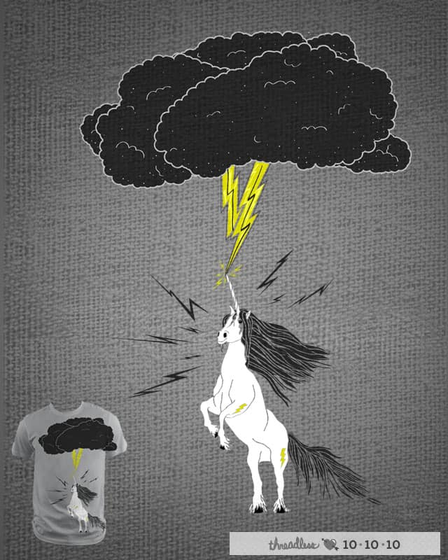 A Unicorn Named Lightning by tylerbramer on Threadless