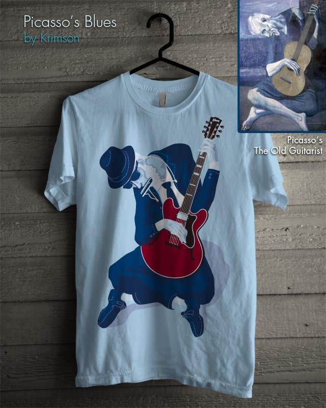 Picasso's Blues by Krimson on Threadless